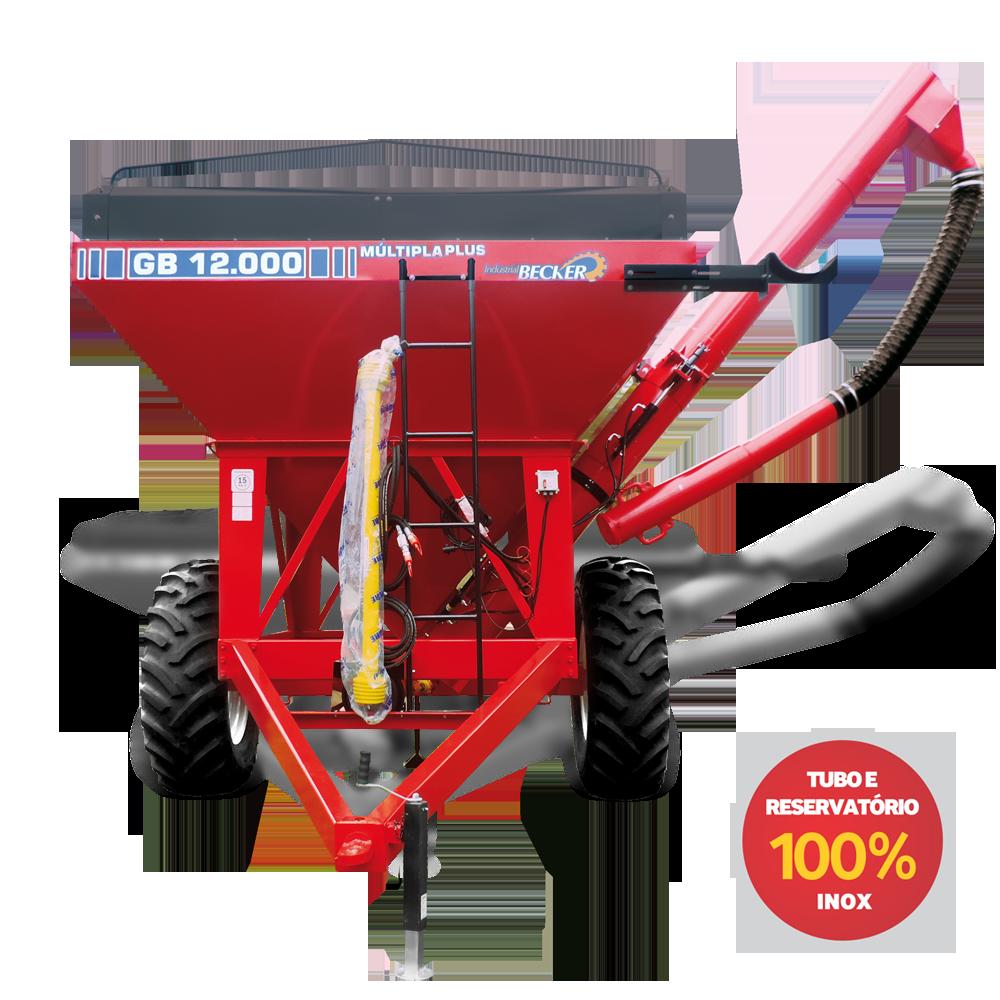 Carreta Agrícola Graneleira GB-12000 Múltipla INOX